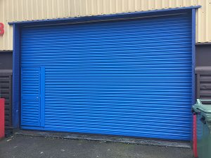 Gallery - Blue Shutter With Access Door