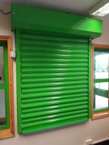 Gallery - Lime Green Roller Shutter